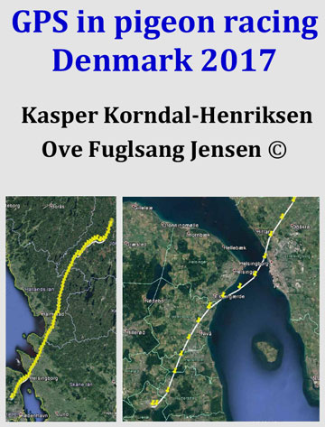 Gps in pigeon race 2017 by Ove Fuglsang Jensen